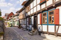 ドイツ クヴェードリンブルク 木骨造の家並み