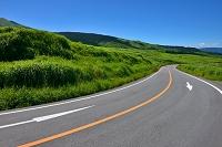 熊本県 阿蘇の車道