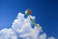 入道雲と朝顔の風鈴