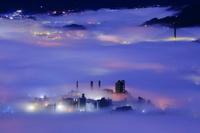 埼玉県 秩父盆地の雲海夜景