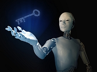 CG ロボットのカギのイメージ