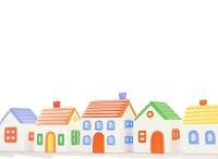粘土の家の街