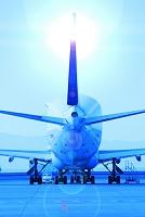 愛知県 中部国際空港 飛行機と滑走路