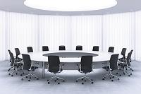 会議室のテープルと椅子 CG
