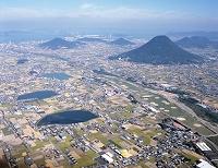 讃岐富士 空撮 10月 香川県 丸亀市