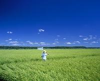 田園と子供