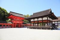京都府 下賀茂神社 楼門と舞殿