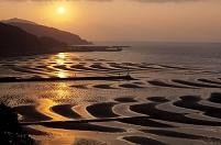 熊本県 御輿来海岸の夕日