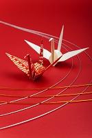 日本 折鶴と水引