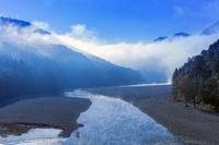 奈良県 北山川の朝霧