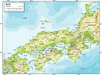 西日本 自然図