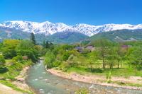 長野県 大出公園と北アルプス