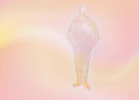 ピンク色の男性シルエット