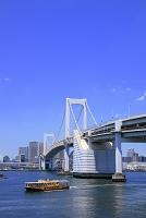 東京都 レインボーブリッジと水上バス