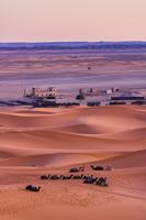モロッコ サハラ砂漠のうねり