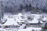 京都府 美山町 かやぶきの里 雪景色
