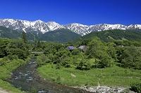 長野県 大出公園から白馬三山