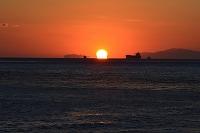 明石 舞子公園 播磨灘に沈む夕日