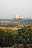 インド アーグラ城塞からタージ・マハル