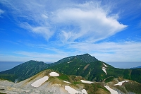 富山県 立山・室堂から大日岳と雲