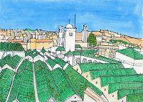 モロッコの緑の屋根