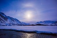 アメリカ合衆国 厳冬アラスカ 真夜中