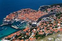 クロアチア ドブロブニク アドリア海と旧市街