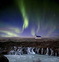 アイスランド フロインフォッサル オーロラ