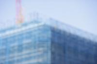 ビルの建設現場の背景素材