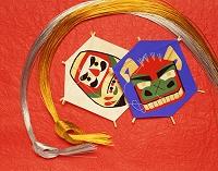 正月のイメージ 凧と水引