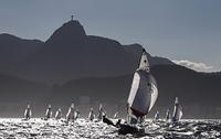 ブラジル ヨットレースとコルコバードのキリスト像