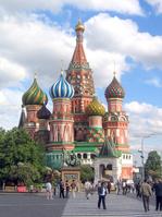 ロシア モスクワ 聖ワシリイ大聖堂と赤の広場