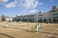 学校と野球試合