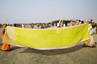 インド サガー島 サリーの乾燥