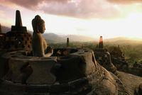 インドネシア ボロブドゥール寺院
