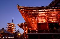 東京都 浅草寺の夜景