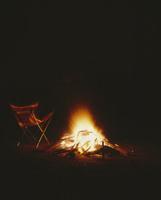 キャンプの焚火