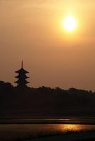 岡山県 吉備路 国分寺の朝