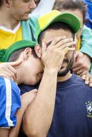 ブラジルを応援する観客