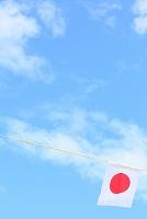 日の丸国旗と青空
