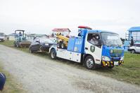 防災訓練 ‐ 倒壊建物等からの救出救助訓練 レッカー車(JAF)