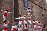 スペイン バルセロナ 祭礼 人間ピラミッド