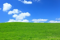 草原 青空 雲