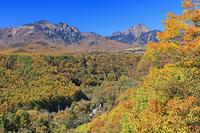山梨県 紅葉の北杜八ヶ岳公園線より八ヶ岳