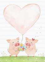 豚のカップル