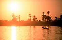 エジプト ナイル川 釣り人