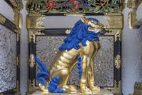 栃木県 陽明門の獅子像(平成の大修理完成後)