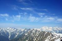 長野県 爺ケ岳から北アルプスの山々と雲