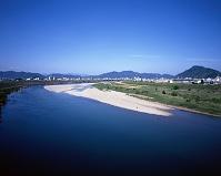 長良川 下流の様子 5月 岐阜県 岐阜市