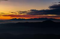 大黒岳から見る御来光 八ヶ岳